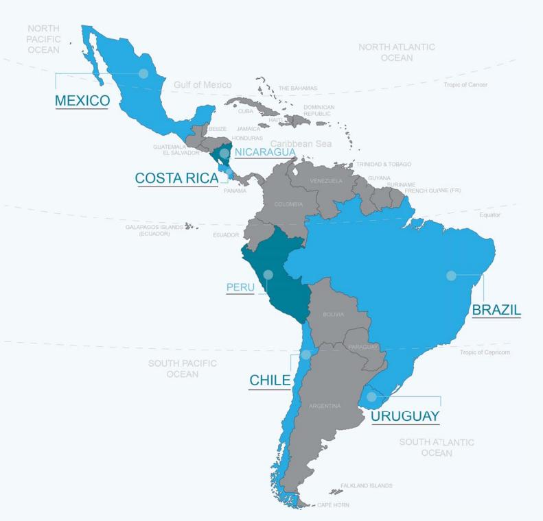 拉丁美洲地图
