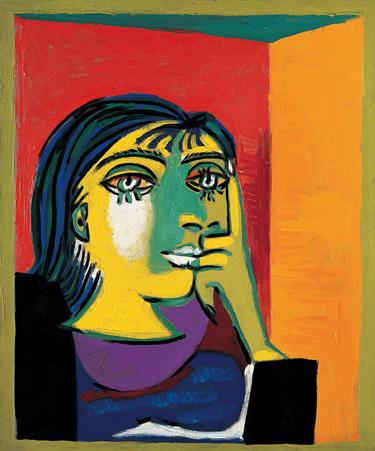 你还记得《朵拉玛尔肖像》(portrait of dora maar,1937)吗?高清图片