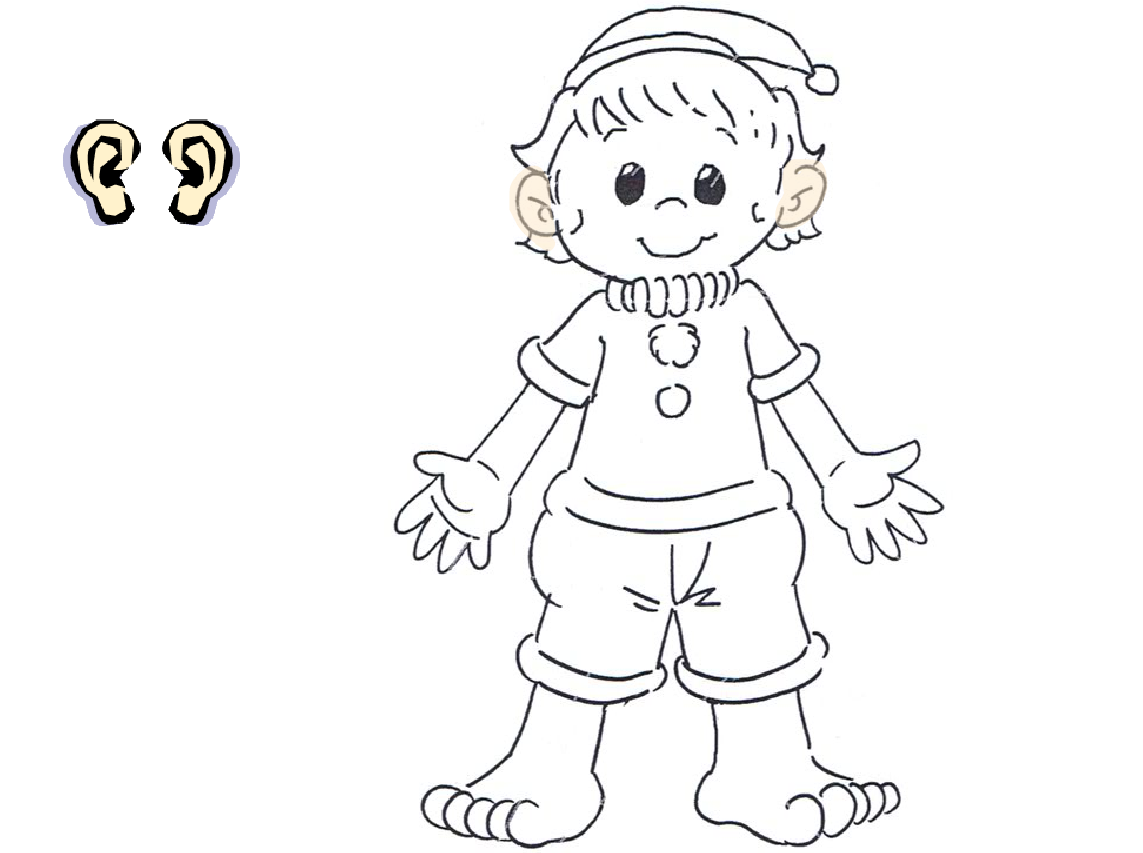 coloring pages of body parts - photo#36