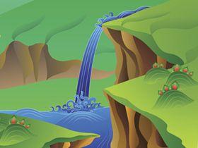 望廬山(1)瀑布
