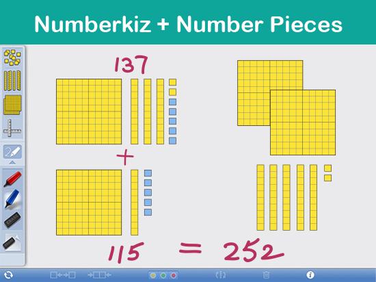 Numberkiz + Number Pieces : 運用圖像探索數學科三位數除法
