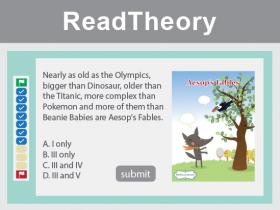 ReadTheory英文網上閱讀平台
