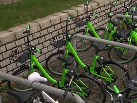 香港首引入的「共享單車」遭丟落河